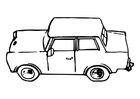 Dibujo para colorear auto - trabant