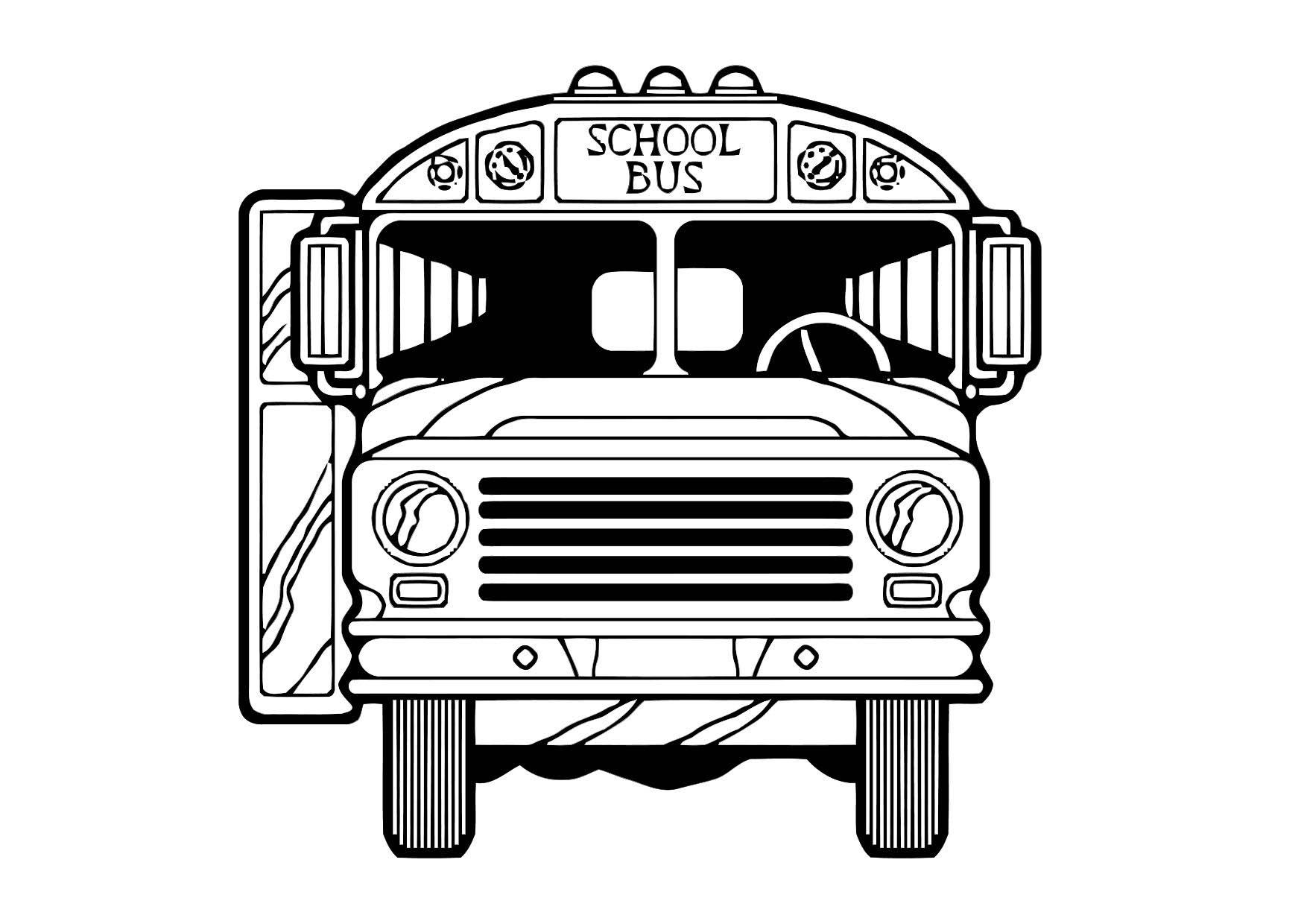 Dibujo para colorear Autobús - Img 11434