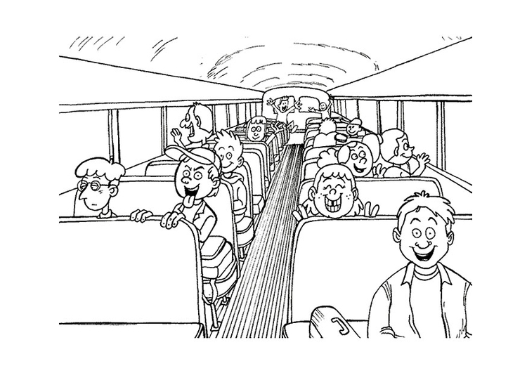 Dibujo para colorear Autobús escolar - Img 9501