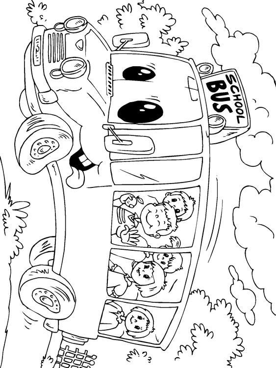 Dibujo para colorear autobús escolar - Img 22688