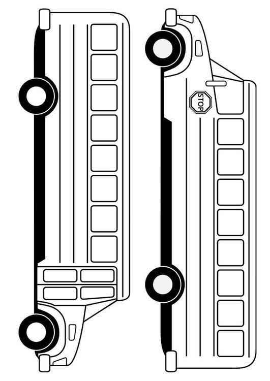 Dibujo para colorear autobús escolar - Img 29479
