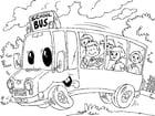 Dibujo para colorear autobús escolar