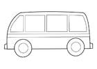 Dibujo para colorear autobús