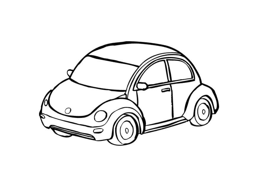 Descargar 1024x1024 Coches Vehículos Automóviles: Dibujo Para Colorear Automóvil