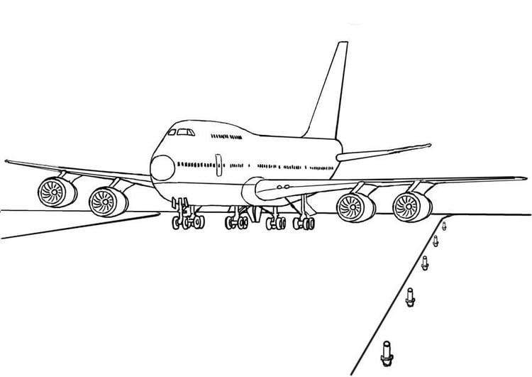 Aviones Para Colorear En Linea Dibujo De Aviones Para: Dibujo Para Colorear Avión 747