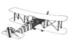 Dibujo para colorear Avión biplano