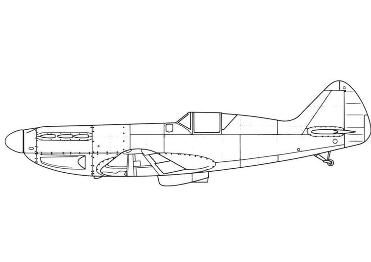 Dibujo para colorear Avión - D551 - Img 16442