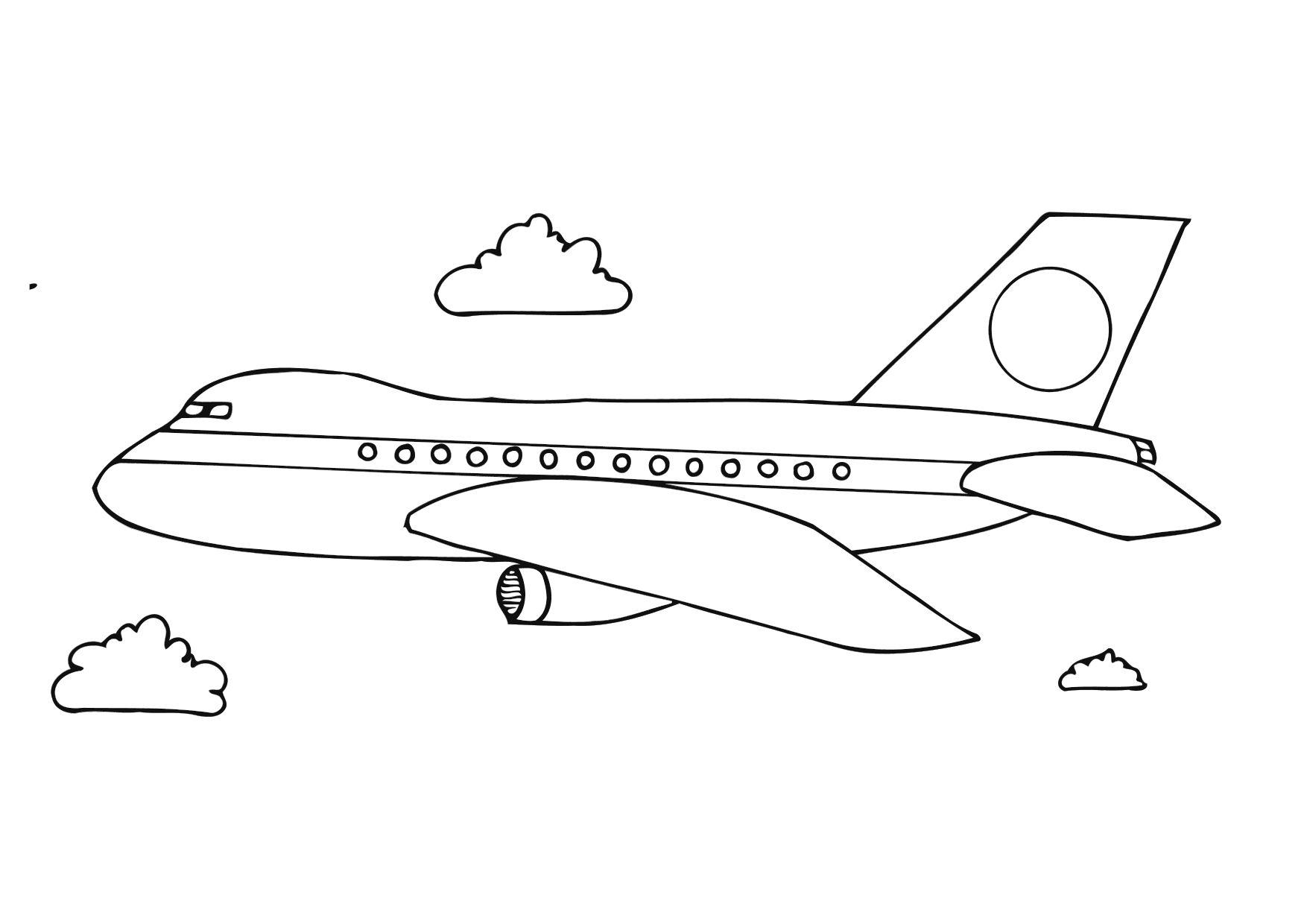 Dibujo Para Colorear Avión Img 12281