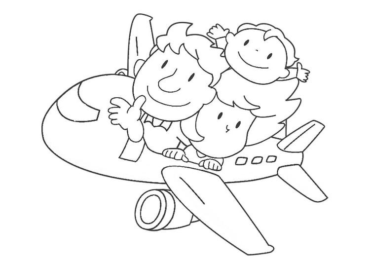 Dibujo Para Colorear Avión Img 30353