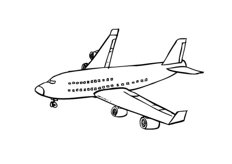 Dibujo para colorear Avión - Img 9673