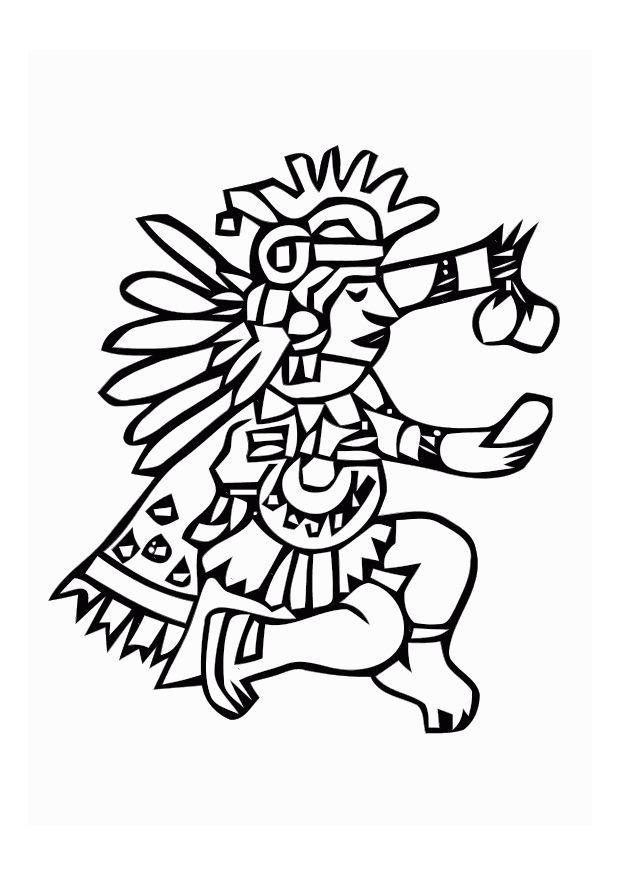 aztec murals coloring pages - photo#21