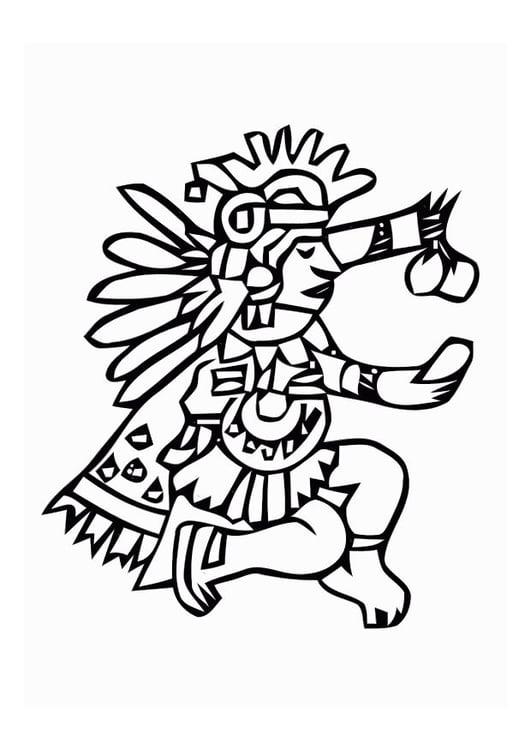 Dibujo para colorear Aztecas - Img 11009