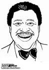 Dibujo para colorear B. B. King