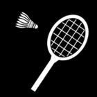 Dibujo para colorear Badminton
