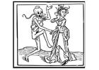 Dibujo para colorear bailar con los muertos