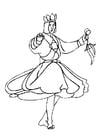 Dibujo para colorear Bailarín