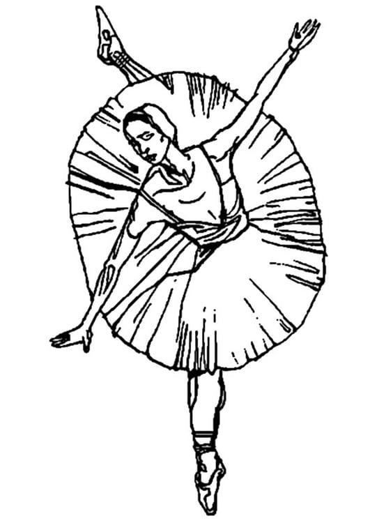 Dibujo para colorear Bailarina - ballet - Img 9347