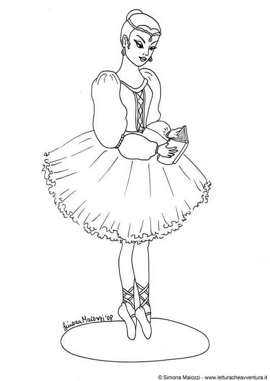 Dibujo para colorear Bailarina - Img 12398