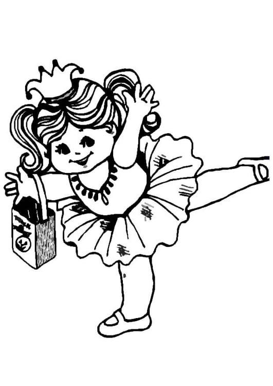 Dibujo para colorear Bailarina - Img 8609