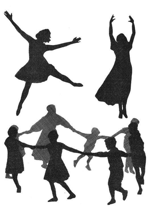 Dibujo Para Colorear Baile Dibujos Para Imprimir Gratis