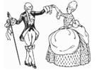 Dibujo para colorear Baile- Minué