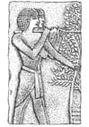 Dibujo para colorear Bajo relieve egipcio