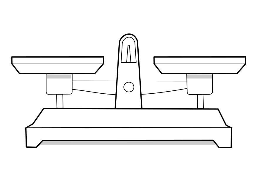 Worksheet. Dibujo para colorear balanza  Img 22854