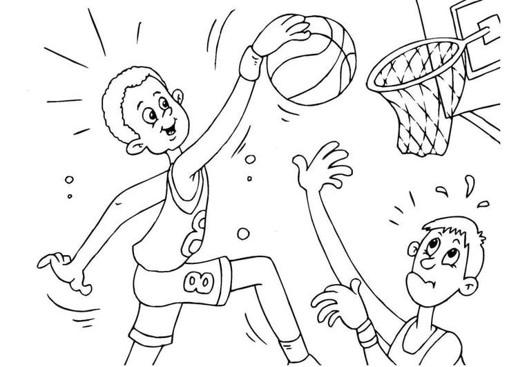 Dibujo para colorear baloncesto - Img 25987