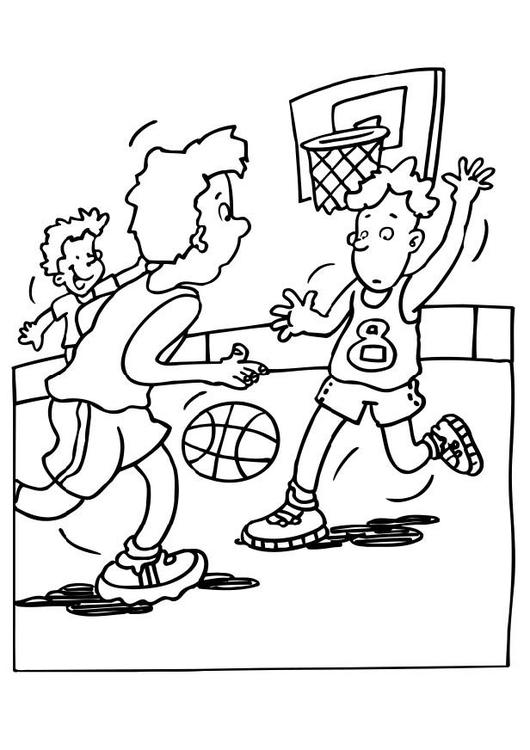 Dibujo para colorear Baloncesto - Img 6478