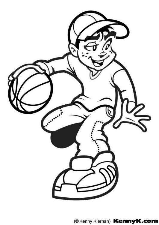 Dibujo para colorear Baloncesto - Img 7020