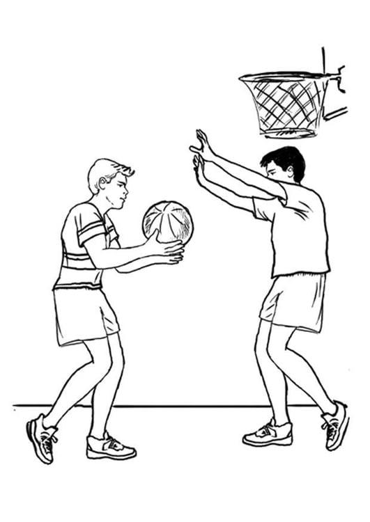 Dibujo para colorear Baloncesto - Img 7877