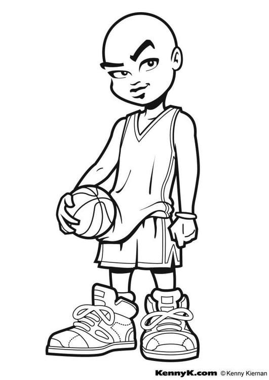 Dibujo para colorear Baloncesto - Img 9033