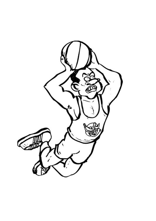 Dibujo para colorear Baloncesto - Img 9678