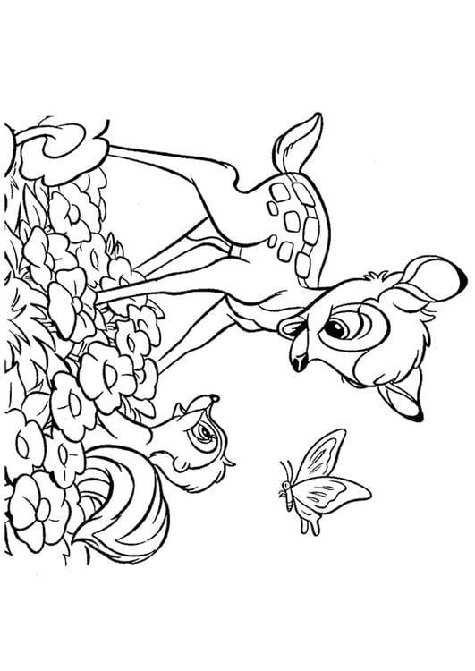Dibujo para colorear Bambi - Img 20747
