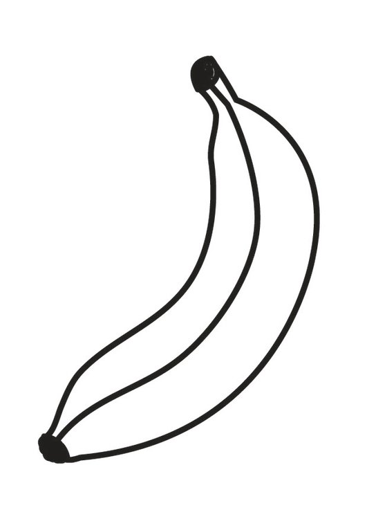 Dibujo para colorear banana - Img 23171