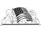 Dibujo para colorear bandera de Estados Unidos