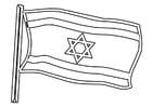 Dibujo para colorear bandera de Israel