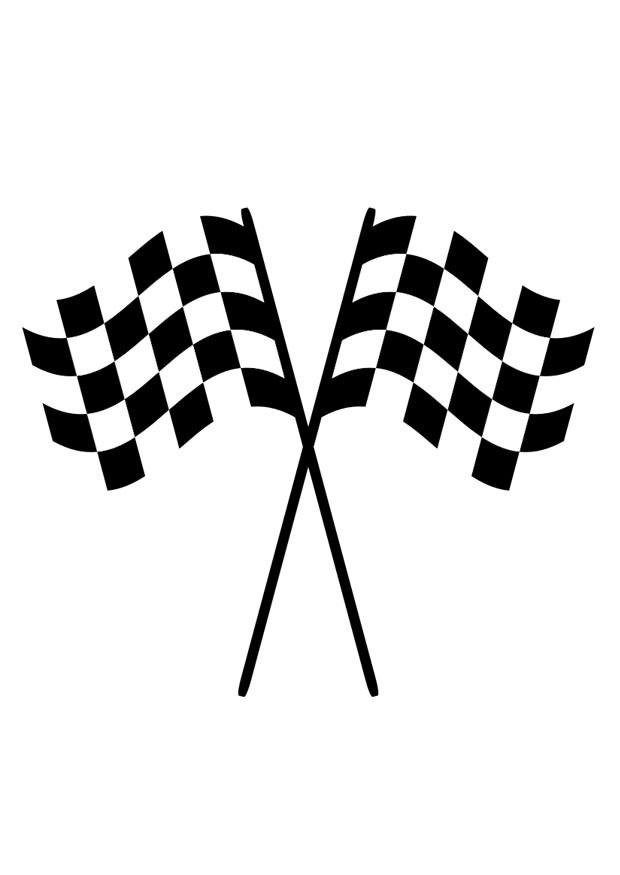 dibujo para colorear banderas de carreras