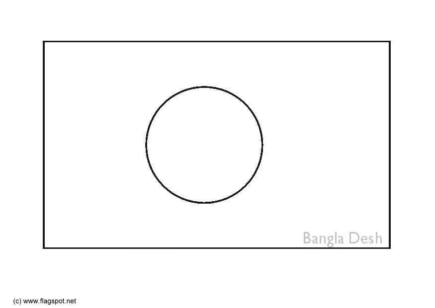Bangladesh Flag Sketch
