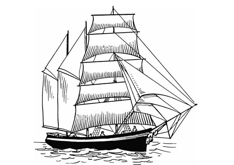 Dibujo para colorear barco a vela img 13308 - Voilier dessin ...