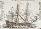 Dibujo para colorear Barco de guerra de tres mástiles