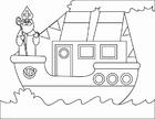 Dibujo para colorear Barco de vapor (2)