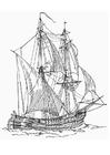 Dibujo para colorear Barco mercante - Billander