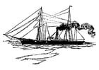 Dibujo para colorear Barco