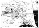 Dibujo para colorear Barco - barco de pesca