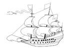 Dibujo para colorear Barco velero del siglo 17