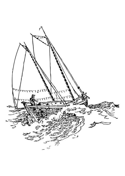 Dibujo Para Colorear Barco Velero Img 10520