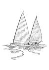 Dibujo para colorear Barco velero