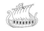 Dibujo para colorear Barco vikingo