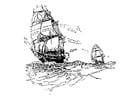 Dibujo para colorear Barcos veleros